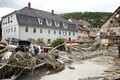 Tormi ja üleujutuste tagajärjed Braunsbachis.