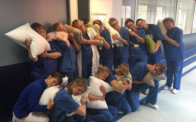 Tartu Ülikooli kliinikumi 2. intensiivravi osakonna töötajad