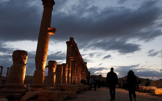 Iidse Palmyra linna varemed.