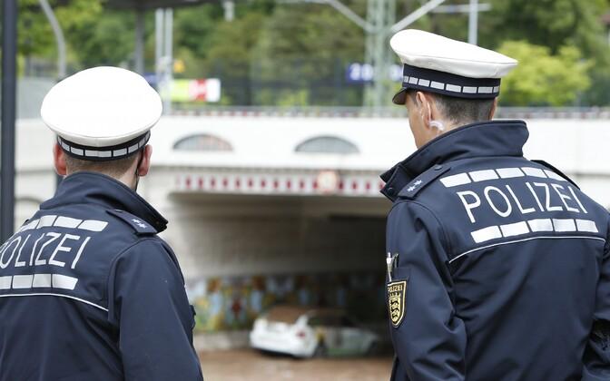 Politseinikud Saksamaal. Illustreeriv foto.