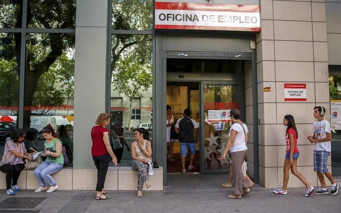 Töötuamet Madridis.