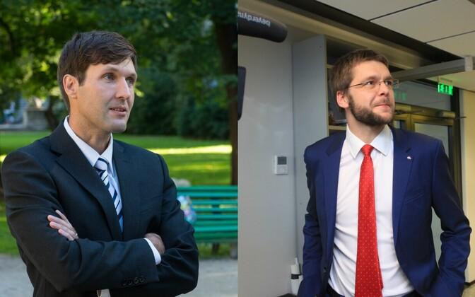Martin Helme (vasakul) ja Jevgeni Ossinovski.