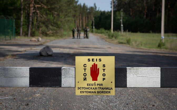 A border marker in Southeastern Estonia.