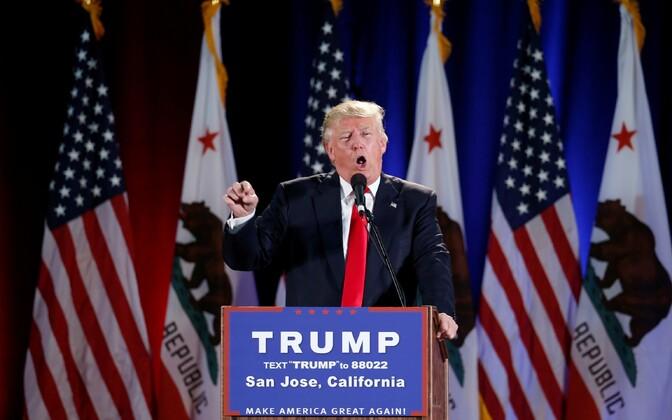 Donald Trump 2. juunil San José's.