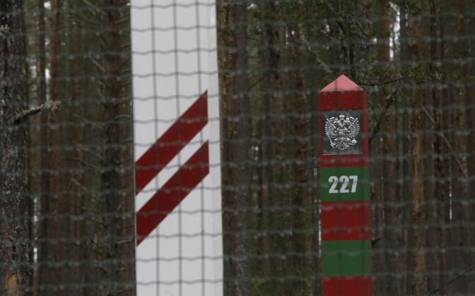 Läti ja Venemaa piirimärgid.