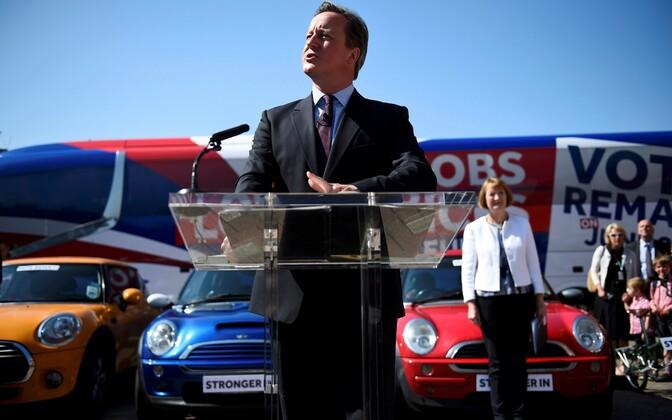 Briti peaminister David Cameron 6. juunil kampaaniaüritusel.