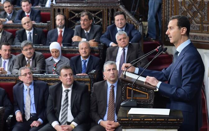 Süüria president Bashar al-Assad 7. juunil parlamendis.