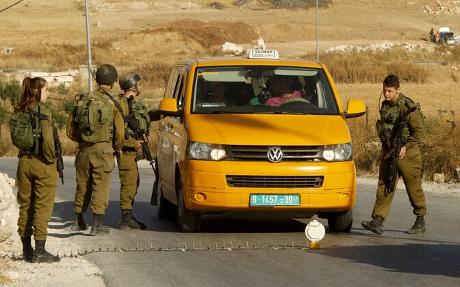 Iisraeli sõdurid Yatta küla lähistel.