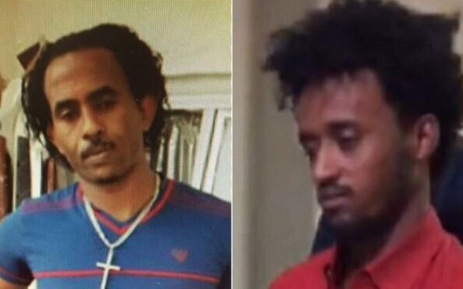 Vasakul on NCA poolt avaldatud vana foto Mered Medhaniest, paremal aga foto eile Itaalia polits üle antud mehest.