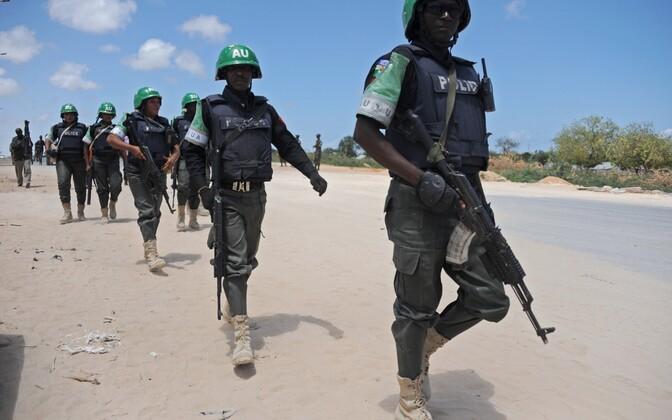 Aafrika Liidu rahvuvalvajad Somaalias.