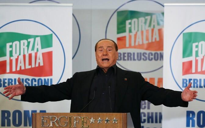 Silvio Berlusconi tänavu mais Roomas.