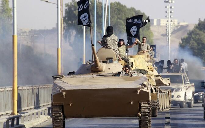 ISIS-e võitlejad 2014. aastal Raqqas.