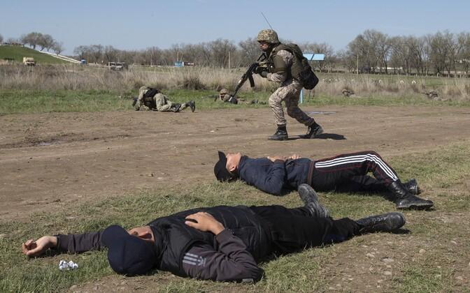 Kasahstani sõdur terrorismivastasel õppusel 2015. aastal.
