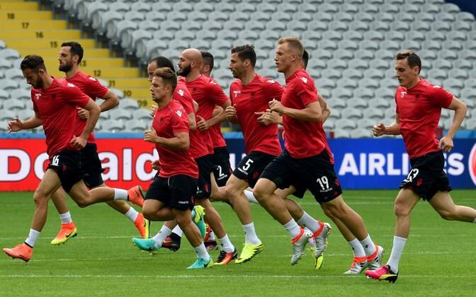 Albaania koondis treeningul
