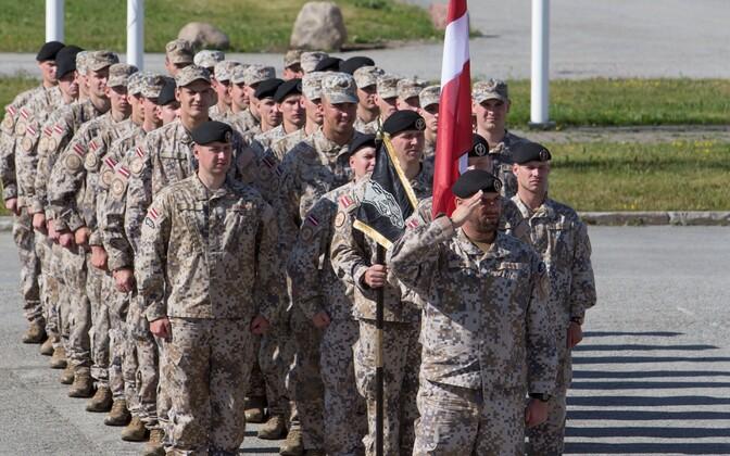 Läti sõdurid õppusel Saber Strike.