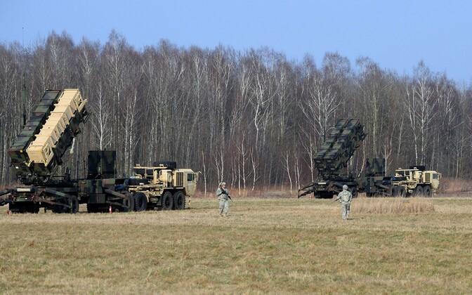 USA raketisüsteemid Patriot Poolas toimunud õppusel, 2015. aasta märts.