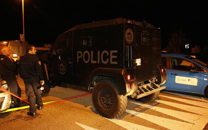 Politsei sündmuskohal Magnanville'is.