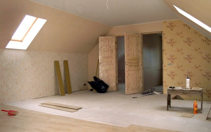 Interior of a new house being finished. Photo is illustrative.