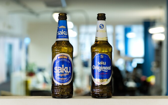 Saku Originaal's old (left) and current (right) labels.