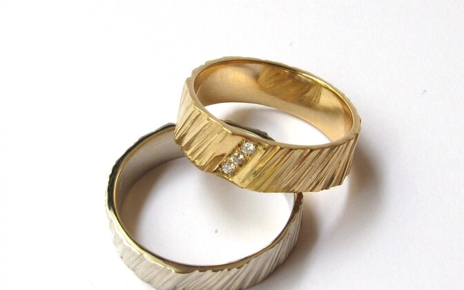 Gold wedding bands.