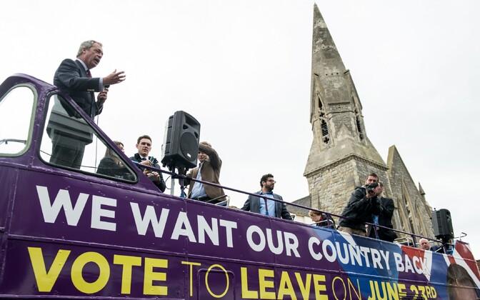 EList lahkumise toetajad eile Sittingbourne'is.