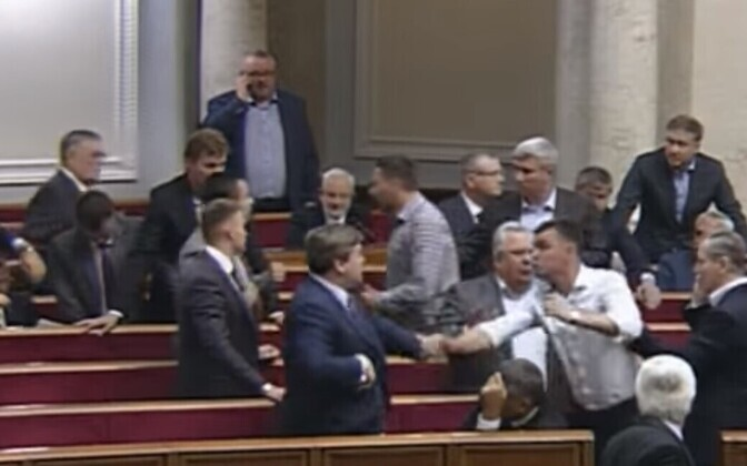 Rüselemine Ukraina ülemraadas 15. juunil.