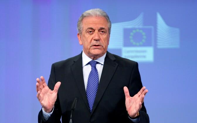Euroopa Komisjoni migratsioonivolinik Dimitris Avramopoulos.