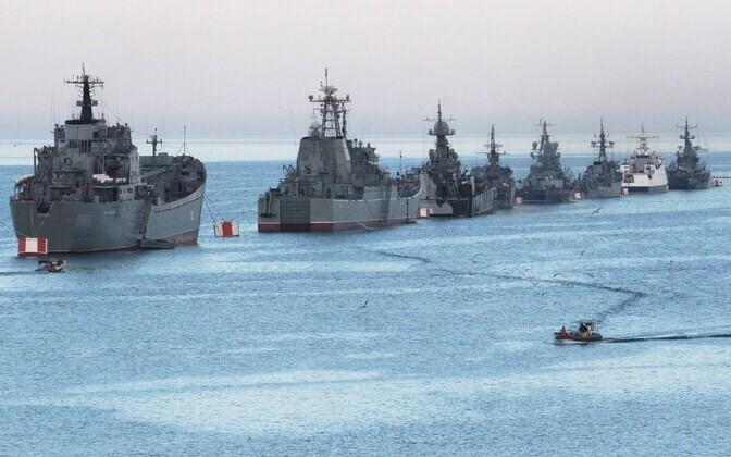 Vene sõjalaevad Sevastopoli lähistel.