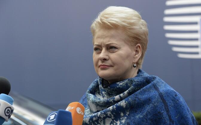 Lithuanian president Dalia Grybauskaitė.