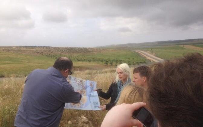 Jeruusalemm. Kaitsepiire Jordani Läänekalda lõuna küljes (tarast vasakul).