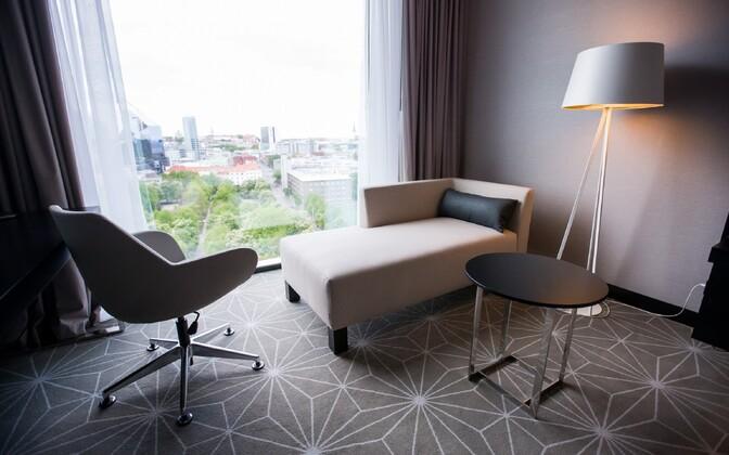Standard sisustas ka Hiltoni Tallinna hotelli