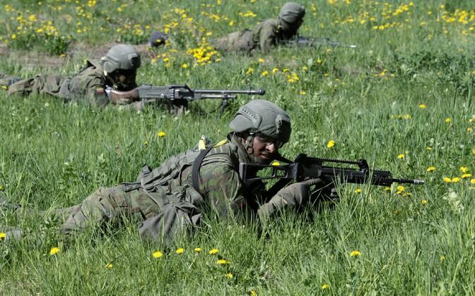 Leedu sõdurid Eestis õppusel Kevadtorm.