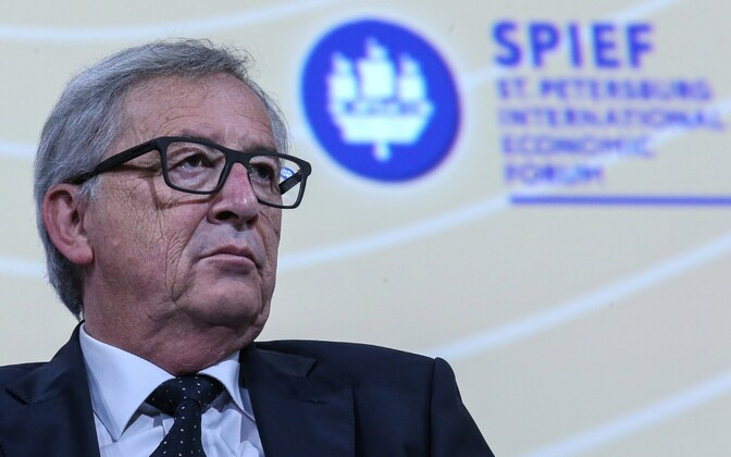 Euroopa Komisjoni president Jean-Claude Juncker 16. juunil Peterburis.