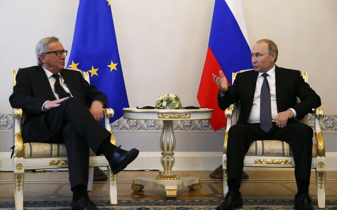 Jean-Claude Juncker ja Vladimir Putin.