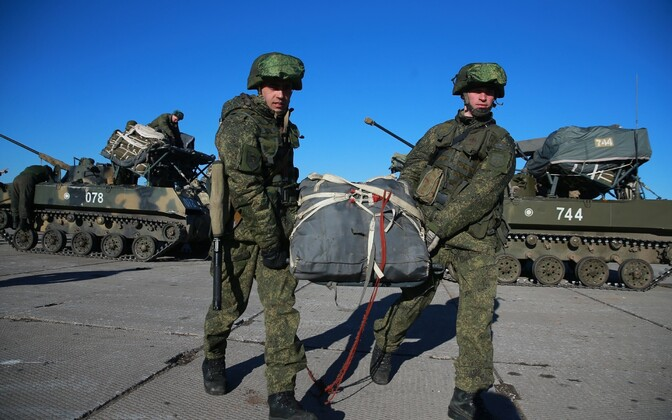 Vene sõdurid õppusel.