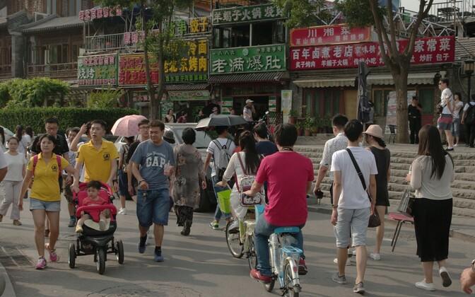 Vaade Pekingi tänavalt.