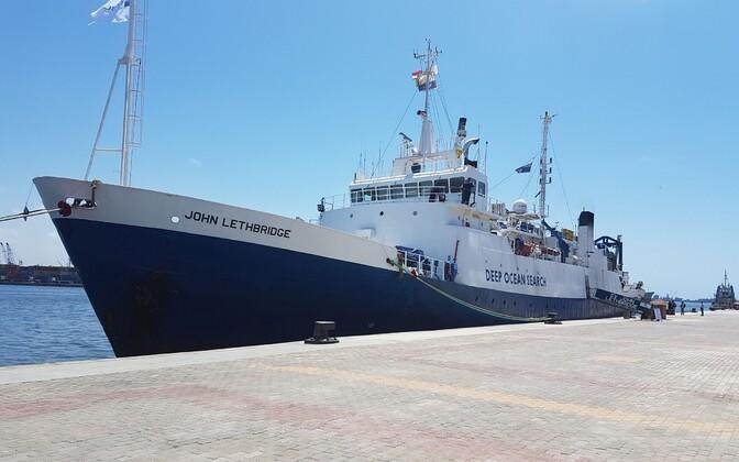 Deep Ocean Searchi uurimislaev John Lethbridge, mis osaleb EgyptAiri reisilennuki rusude otsimisel.