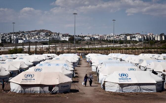 Põgenikelaager Ateenas.