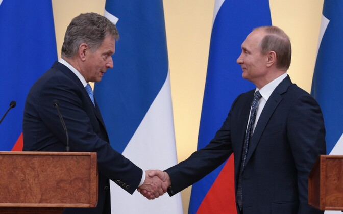 Niinistö ja Putin Moskvas 2016. aasta märtsis.