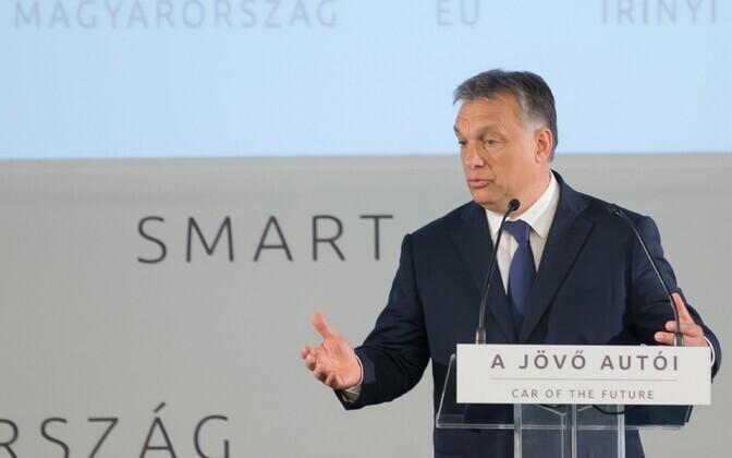 Ungari peaminister Viktor Orban tehnoloogiakonverentsil Budapestis.