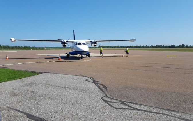 Transaviabaltika's LET410 aircraft