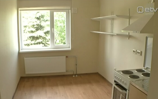 An apartment in Vägeva renovated for use by refugee families.