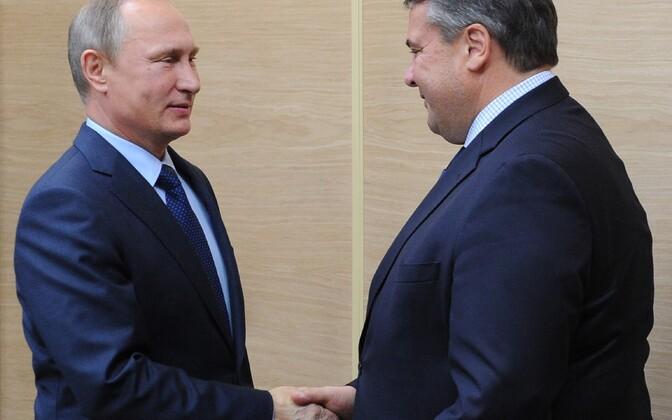 Vladimir Putin ja Sigmar Gabriel eelmisel sügisel Moskva lähistel Novo-Ogarjovo residentsis.