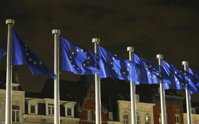 Euroopa Liidu lipud Brüsselis.