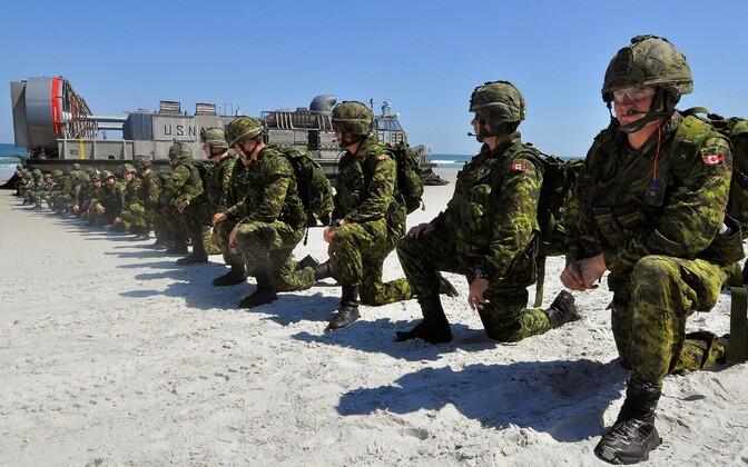 Kanada sõdurid õppusel.