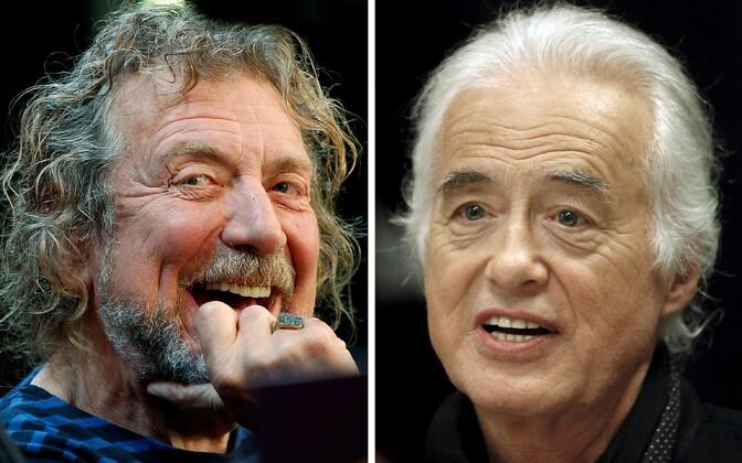 Led Zeppelini laulja Robert Plant ja kitarrist Jimmy Page.
