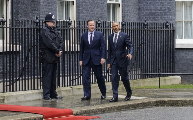 David Cameron ja Barack Obama.