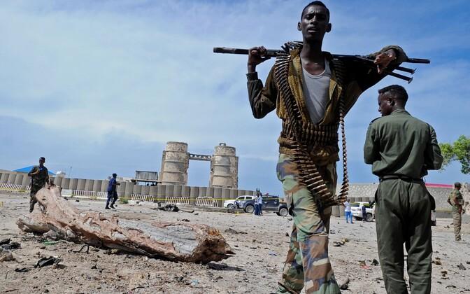 Somaalia julgeolekujõud Muqdishos.