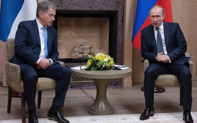 Niinistö ja Putin käesoleva aasta märtsis Moskvas.