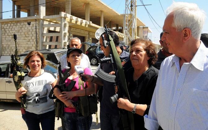 Qaa küla kaitseks ollakse valmis, räägivad kohalikud liibanonlased reporteritele.